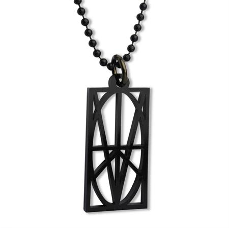 Picture of Women's Black Acrylic Pendant