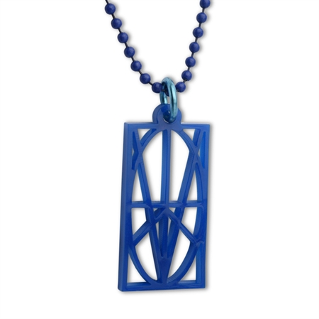 Picture of Women's Blue Acrylic Pendant