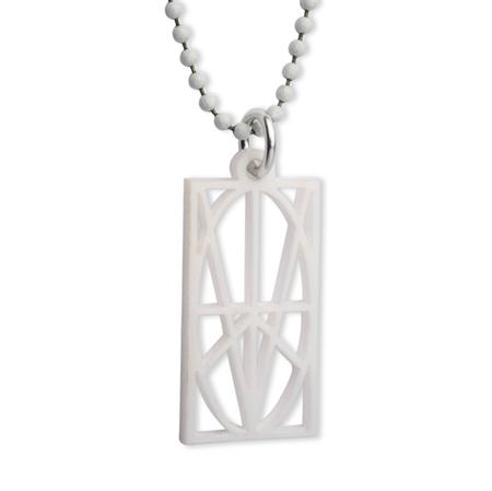 Picture of Women's White Acrylic Pendant